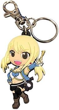 Fairy Tail Lucy PVC Llaveros Porte-clés en PVC Anime Merchandise japonés Comic: Amazon.es: Juguetes y juegos