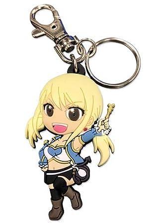 Fairy Tail Lucy PVC Llaveros Porte-clés en PVC Anime ...