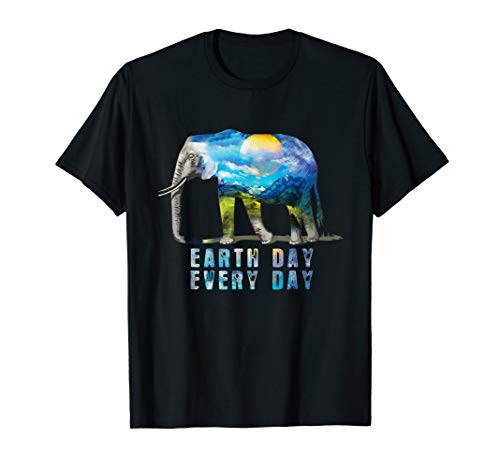 Earth Day T-shirts - Elephant Earth Day T-Shirt Elephant Lover Gift Shirt