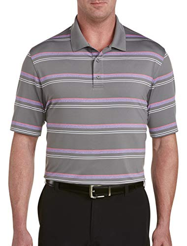 Reebok Big and Tall Golf Speedwick Heather Stripe Polo