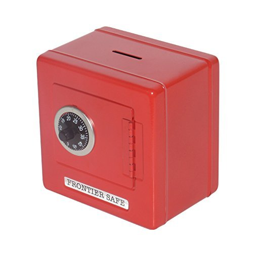 Children's Metal Coin Safe Bank (Red) by Toys+