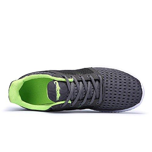 Hombres Respirable Zapatos deportivos Entrenadores Excursionismo Cómodo Ligero Zapatos para correr Green