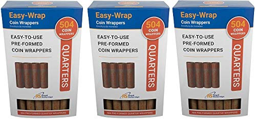 Royal Sovereign Preformed''Quarters'' Coin Roll Wrappers (FSW-504Q) (3-(Pack)) by Royal Sovereign