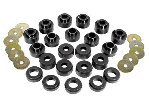 Prothane 1-107-BL Black Body Mount Bushing Kit for CJ5, CJ7, CJ8, YJ and TJ - 22 Piece