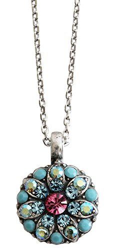 Mariana Guardian Angel Crystal Pendant Necklace, 16 Summer Fun Blue Pink 5212 3711