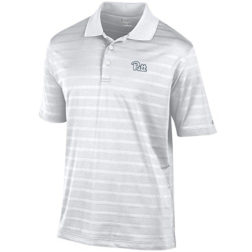 Pittsburgh Panthers Golf - Elite Fan Shop Pittsburgh Panthers Polo Striped White - XXL