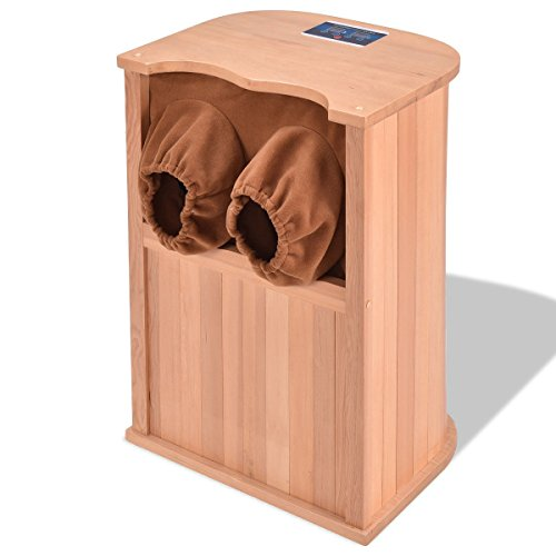 Foot Spa Sauna Infrared Wooden Dry w/ Carbon Fiber Heaters With Ebook by oldzon