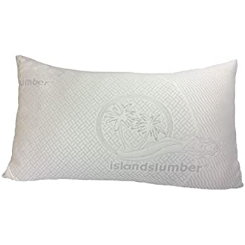 ultra soft luxury bamboo shredded memory foam pillow by island slumber plant a tree with