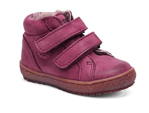 Bisgaard Sneaker m. Fell Klettverschluß pink Metall