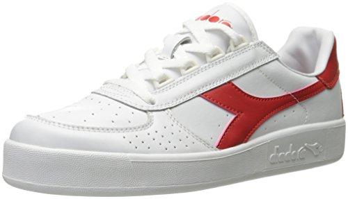 Diadora Men's B. Elite Tennis Shoe - White/Ferrari Red - ...