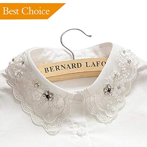 Ronessy Fake Collars for Women Women Collar Shirts- Detachable False Collars for Women with Stone White