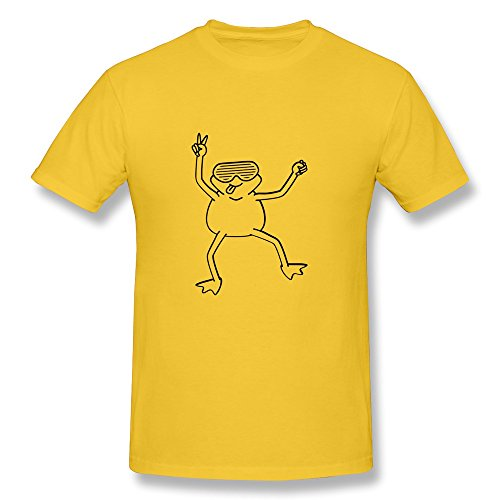 Funky Frog Round Neck T-shirt For Man Yellow XXL Newest T - Reynolds Sunglasses