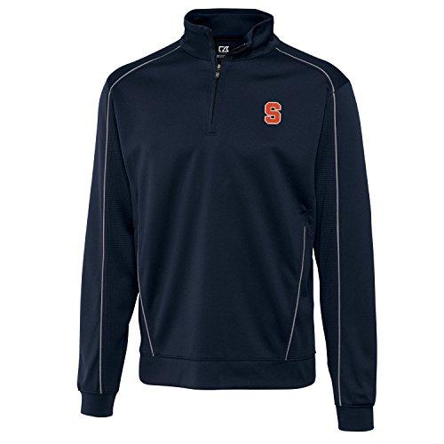 Syracuse Embroidered Long Sleeve (NCAA Syracuse Orange Men's CB Dry Tec Edge Half Zip, XX-Large, Navy Blue)