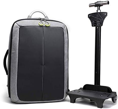 ホイール付きホールドオールバッグキャビンスーツケース - キャビンスーツケース35リットル - 軽量ユースケースパーフェクトトロリーバックパック男性用盗難防止USB充電バックパックフィット外出、スポーツ、旅行、出張