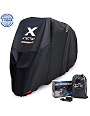 XYZCTEM Motorbike Cover, Fit up to 97 Inches Long Motorcycle, Waterproof All Season Outdoor Protection Heavy Duty Durable Thick 210D Oxford