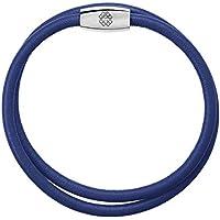 Pulseira de Couro Azul 18cm