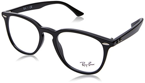 Ray-Ban RX7159 Square Eyeglass Frames Non Polarized Prescription Eyewear, Black/Demo Lens, 50 mm