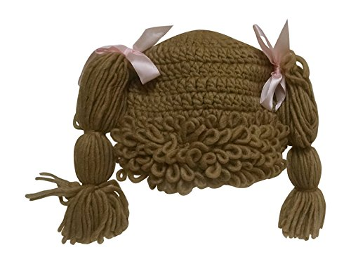[The Lilly Hat Woven Yarn Hair Hat - Infant Baby Toddler Child Size - Light Brown] (Wigs For Babies)