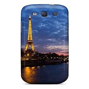 Durable Protector Case Cover With Eiffel Tower Sunset Hot Design For Galaxy S3