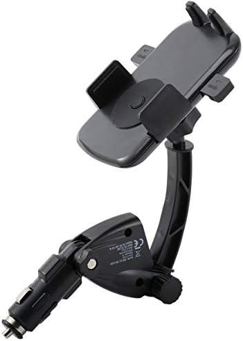 VORCOOL シガーソケットusb充電器2usbポート車載充電器スマホホルダー電話スタンド携帯ブラケット自動車用(黒)