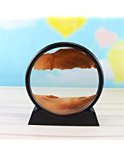Dynamic Moving Sand 12inch Sand Painting|Circular Wall-Mounted Quicksand Painting|Natural Landscape Flowing Sand Picture Frame,for Home Ornament Gift (Color : H)