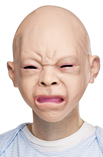 (Fun World Unisex-Adult's Crying Baby Mask, Multi,)
