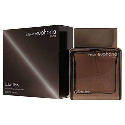 Calvin Klein intense euphoria for Men Eau de Toilette, 3.4 Fl Oz (Euphoria Perfume For Men)
