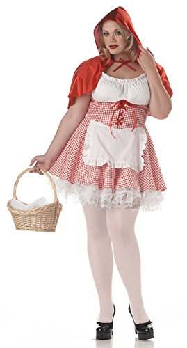 California Costumes Women's Miss Red Riding Hood Costume, Red/White, 2XL (18-20)