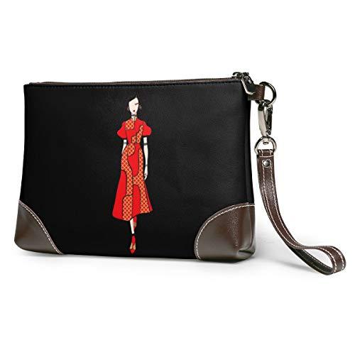 Woman Puyiyua Women Party Wedding Wallet Bag Leather Wristlet Everyday Clutch Handbag