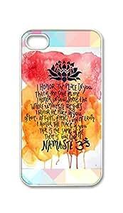 BlackKey namaste prayer Yoga Snap-on Hard Back Case Cover Shell for iphone 5c -1167