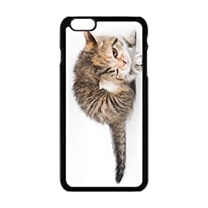 Cute Cat Blinking Eyes Black Phone Case for Iphone6 plus