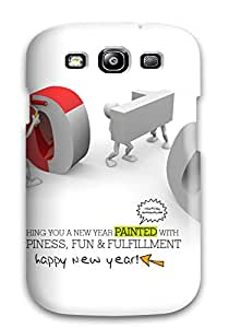 Shirley P. Penley's Shop 4359593K62283179 Happy & Fun Newyear Case Compatible With Galaxy S3/ Hot Protection Case