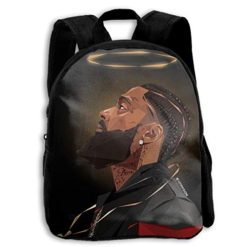 VIXXLH Nip-sey Hussle Rip Student Unisex-Child Backpack 3D Customized Boy Girl Backbag Classic Youth School Bag Canvas Daypack for Daily