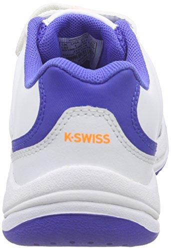 K-Swiss Performance Ultrascendor Omni Strap Jr, Zapatillas de Tenis Unisex Niños Blanco - Weiß (WHITE/ELECTRICBLUE/ORANGE)