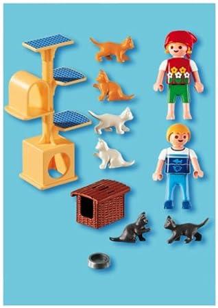 Playmobil 626631 - Veterinaria Árbol Con Gatos: Amazon.es: Juguetes y juegos