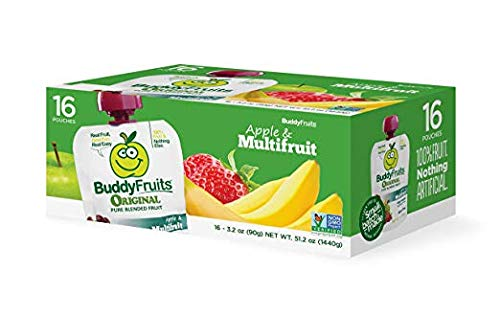 Buddy Fruits Original Blended Fruit Apple & Multifruit, 16 Count Pouches 3.2oz by Buddy Fruits (Image #4)