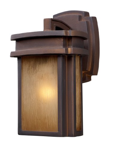 (Elk 42146/1 Sedona 1-Light Outdoor Sconce 6-Inch Width by 10-Inch Height in Hazelnut Bronze)