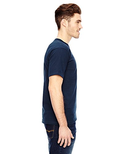 Bayside Mens USA-Made T-Shirt with a Pocket-7100-X-Large-Navy ()