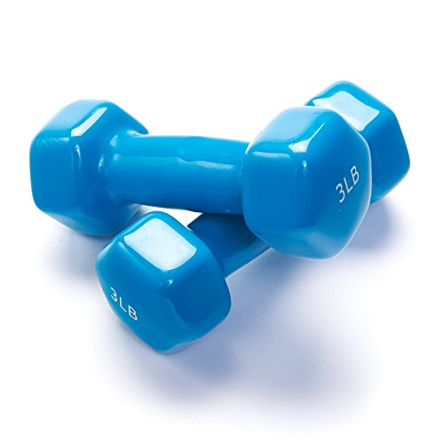 Black Mountain Products Vinyl Dumbbell Set Of 2, 3lbs