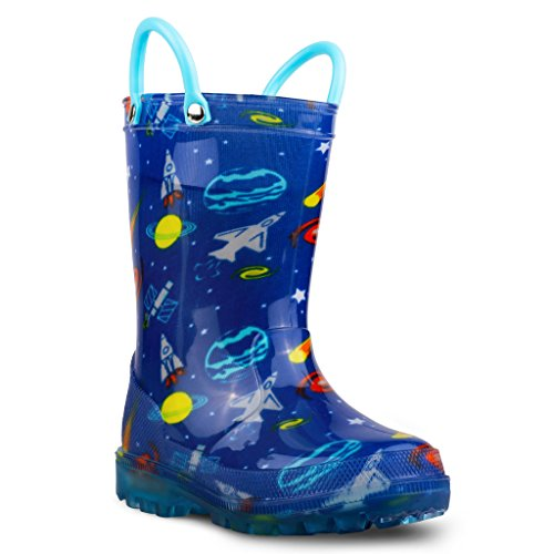 Chillipop Light Up Rainboots For Boys, Girls & Toddlers With Fun Kid Prints With 5 Lights by Chillipop (Image #1)