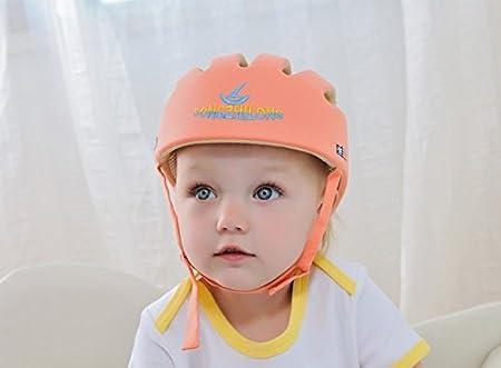 Ibepro - Casco de seguridad para bebés y niños con protección para la cabeza, para caminar y rastrar, ajustable, para casco de seguridad y casco de ...