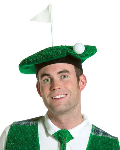 [Hole-In-One Golf Beret] (Ladies Golf Fancy Dress Costumes)