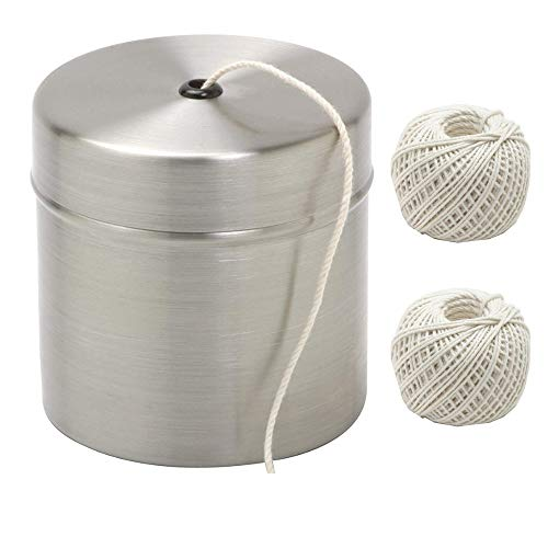 - Norpro Cooking Twine, 200 feet with Stainless Steel Holder Now Comes with 1 Extra Cotton String Bundle.