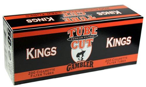 Gambler Tube Cut Regular King Size RYO Cigarette Tubes 200ct Box (50 Boxes) by Gambler