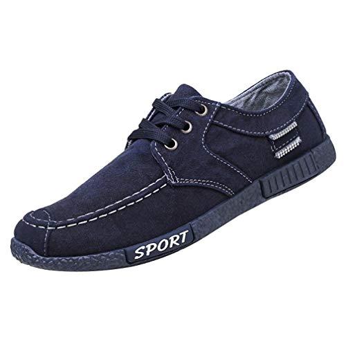 Men Sneakers,Caopixx Denim Canvas Shoes Men's Casual Sports Shoes Low-Top Shoes ()