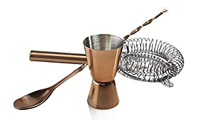 Luminarc 3 Piece ARC International Luminarc Barcraft Cocktail Accessory, Copper