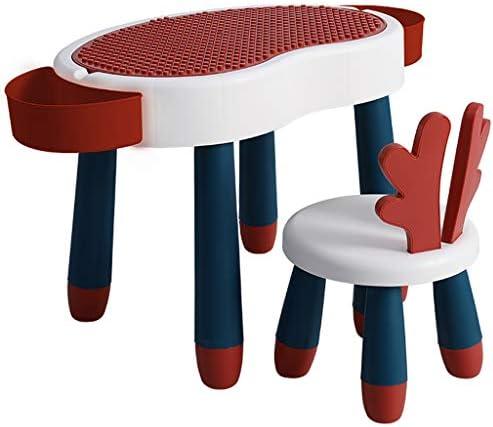 学習デスク 子供の学習テーブルと椅子セット、多機能キッズデスクセット 、家庭用複合学習テーブルとチェアセット、収納ボックス付き2 In 1モダンチルドレンライティングデスク (Color : Red)