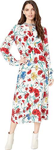 Juicy Couture Women's Silk Wildflowers Midi Dress Angel/Silk Wildflower ()