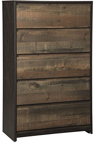 Dark Cherry Tv Chest (Signature Design by Ashley B320-46 Windlore Rustic Dresser Chest of Drawers, One Size)