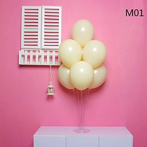 - VDV Artificial Flowers 10Pcs 10'' Macaron Candy Color Pure Latex Balloons Wedding Children Happy Birthday Balloons DIY Air Ballon Party Decorations Home Decor-Macaron Yellow
